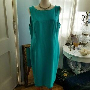 Kasper - Turquoise Shift Dress